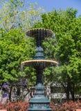 Fuente en St. Louis cuadrado en Montreal Fotografía de archivo