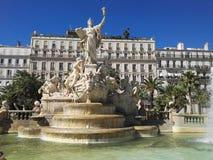 Fuente en Toulone Fotografía de archivo