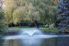 Fuente en un parque Imagenes de archivo