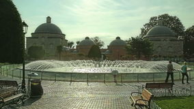 Fuente Estambul del parque de Hagia Sophia almacen de video
