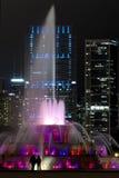 Fuente famosa y Skiline de Chicago Fotografía de archivo
