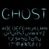 Fuente fantasmagórica del alfabeto del fantasma Fotografía de archivo
