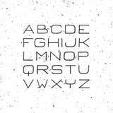 Fuente fina Handdrawn de sans serif Foto de archivo libre de regalías