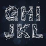 Fuente geométrica G-L de la constelación stock de ilustración