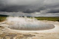 Fuente geotérmica Foto de archivo libre de regalías