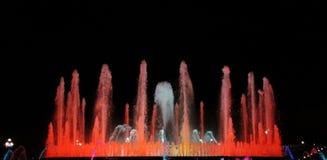 Fuente grande en la noche Fotografía de archivo
