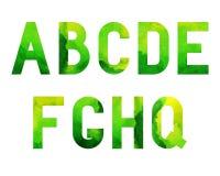 Fuente Green-01 de la acuarela Imagen de archivo libre de regalías