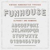 Fuente handcrafted vintage de sans serif redondeó alfabeto Ilustración del vector ilustración del vector