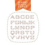 Fuente handdrawn aislada de sans serif Foto de archivo