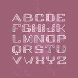 Fuente Handdrawn de sans serif con los elementos decorativos dentro Imagen de archivo