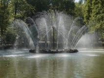 Fuente hermosa en el parque fotografía de archivo libre de regalías