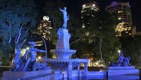 Fuente, Hyde Park, Sydney, Australia Fotos de archivo libres de regalías