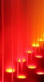Fuente iluminada en la noche Fotografía de archivo