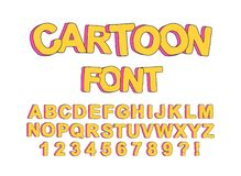 Fuente inglesa de la historieta linda para el diseño de los partidos de los niños, crear impresiones y tipografía de un diseño stock de ilustración