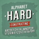 Fuente intrépida retra moderna del alfabeto del vector Fotografía de archivo libre de regalías
