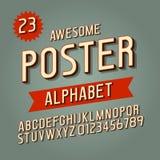 Fuente intrépida retra moderna del alfabeto del vector Foto de archivo libre de regalías