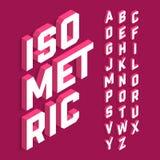 Fuente isométrica 3d Imagenes de archivo