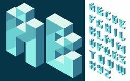 Fuente isométrica del vector 3d Fotografía de archivo libre de regalías