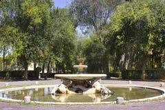 fuente jardines de borghese del chalet roma fotos de archivo libres de regalas