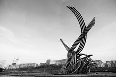Fuente la violación de Europa en el ferrocarril de Kiev en Moscú Imagen de archivo