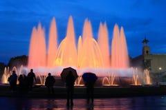 Fuente mágica en Barcelona Foto de archivo libre de regalías