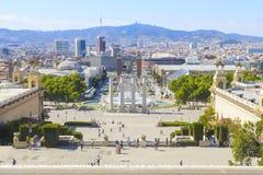 Fuente mágica en la plaza espana Fotos de archivo libres de regalías