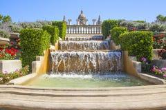 Fuente mágica en la plaza espana Foto de archivo