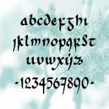 Fuente manuscrita minúscula Imagen de archivo libre de regalías