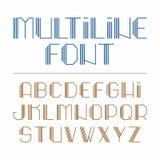 Fuente multilínea, alfabeto Imagen de archivo