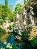 Fuente Neptuno en el arboreto de Trsteno imagen de archivo libre de regalías