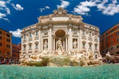 Fuente o Fontana di Trevi del Trevi en Roma, Italia fotografía de archivo libre de regalías