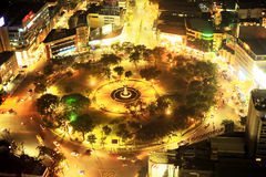 Fuente Osmena Circle at night Royalty Free Stock Photography