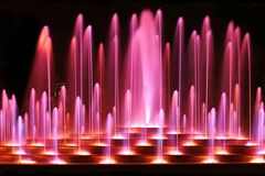 Fuente púrpura Imágenes de archivo libres de regalías