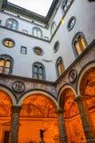 Fuente Palazzo Vecchio Florence Italy del ` s Putto de Verrocchio imagenes de archivo
