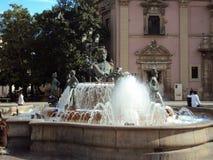 Fuente-Piazza de la Virgen Stockbild