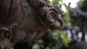 Fuente Primer del vintage de la estatua del jardín Ángel el dormir en el cementerio de Recoleta del La en Buenos Aires Escultura  fotos de archivo