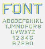 Fuente retra del alfabeto Fotos de archivo libres de regalías