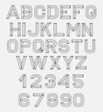 Fuente retra del alfabeto Imagenes de archivo