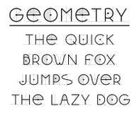 Fuente retra geométrica ilustración del vector