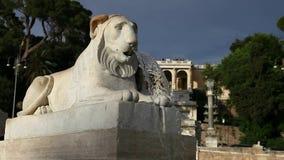 Fuente Roma del león almacen de metraje de vídeo