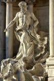 Fuente Roma del Trevi de la estatua del océano Foto de archivo