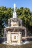 Fuente romana en Peterhof Foto de archivo