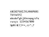 Fuente sólida del alfabeto de Dymond Speers Imágenes de archivo libres de regalías