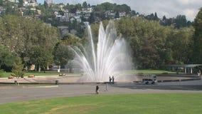Fuente Seattle, Estados Unidos del milenio almacen de metraje de vídeo