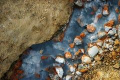 Fuente termal colorida Foto de archivo libre de regalías