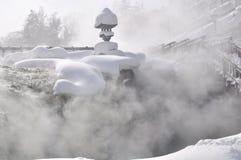 Fuente termal Japón de Kusatsu Fotografía de archivo