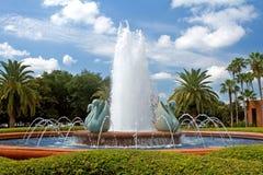 Fuente tropical del centro turístico Imagen de archivo libre de regalías