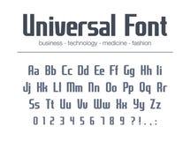 Fuente universal para el texto del título de negocio Alfabeto condensado, estrecho para el diseño del logotipo Estilo de la tipog libre illustration