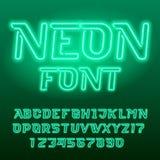 Fuente verde del alfabeto del tubo de neón E libre illustration