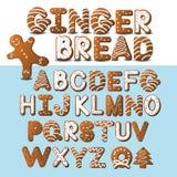 Fuente y hombre de pan de jengibre del pan de jengibre Fotografía de archivo libre de regalías